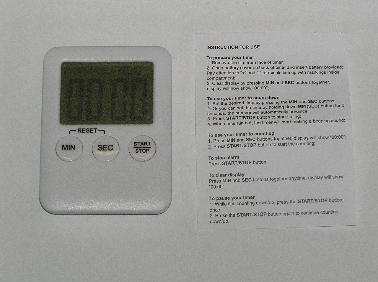 Store & Thaw Pocket Timer